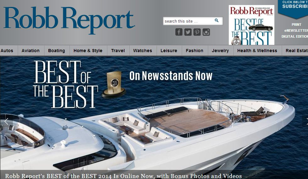 Robb Report Home Page